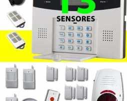 Paquete Alarma Gsm Para Casa Negocio Sirena Inalambrica 13s
