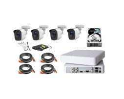 Kit Video Vigilancia 4 Cámaras Hd 720p 1mp Hilook 500gb