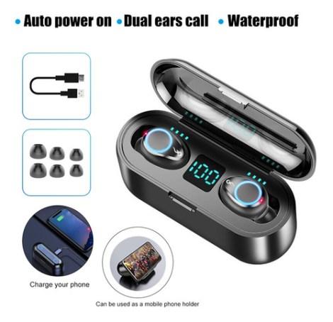 Audífonos Intraurales F9 Bluetooth 5.0 Estéreo