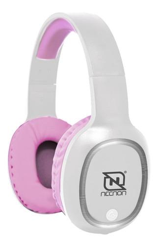 Audífonos Necnon Nbh-04 Pro Blanco Y Rosa