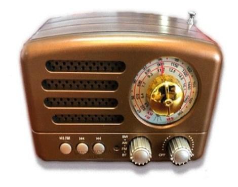 Bocina Retro Clasica Radio Fm Bluetooth Usb Aux Portatil
