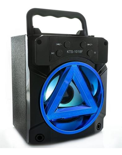 Bocina Bluetooth Con  Radio Fm Y Luz Led