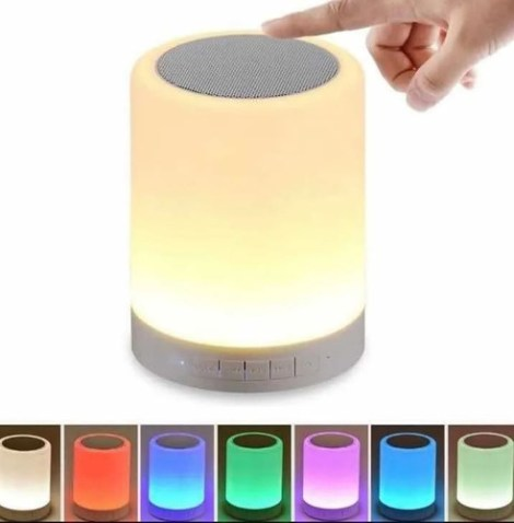 Lampara Bocina Touch Bluetooth Radio Fm Multicolor – T2099