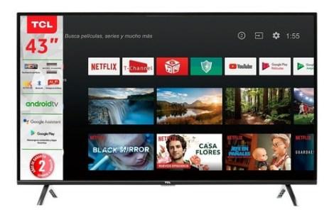 Pantalla Smart Tv Led Tcl 43 Pulgadas 4k Android Tv 43a423