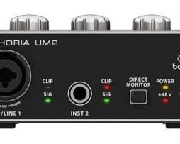 Interface Behringer Um2 2x2 Usb Xenyx Con El Envio Gratis