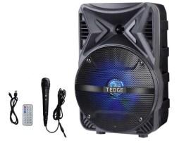 Bocina Bafle Portátil 8 Pulgadas Bluetooth Con Karaoke Tedge