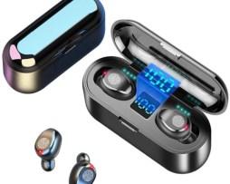 Audífonos S2k F9 Tws Bt Manos Libres Pantalla Led Táctil