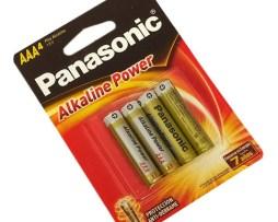 Baterias Pilas Aaa Panasonic Alcalina + Duracion Pack De 4