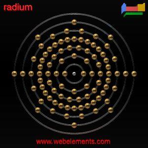 Radium»properties of free atoms [WebElements Periodic Table]