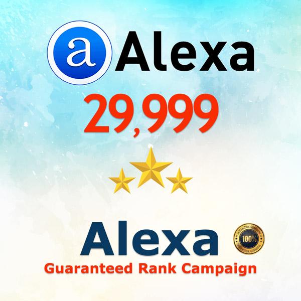 Alexa Guaranteed Ranking Boost 30K