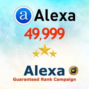 Alexa Guaranteed Ranking Boost 50K
