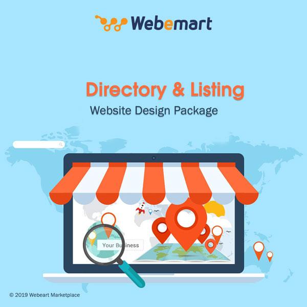 Directory Website Design Package Webemart marketplace