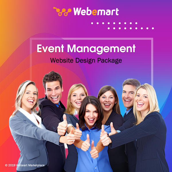 Event Management Website Design Package Webemart Marketplace