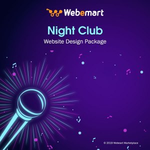 Night Club Website Design Package Webemart Marketplace