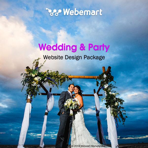 Wedding & Party Website Design Package Webemart Marketplace