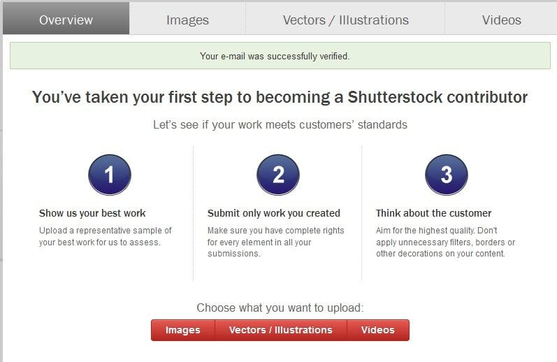 shutterstock contributor portal