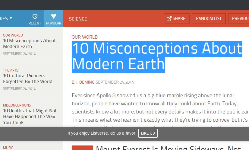 10 Misconceptions About Modern Earth
