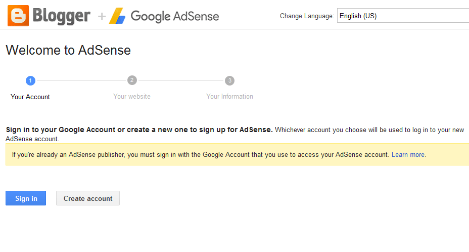 Integrate Adsense with Blogger