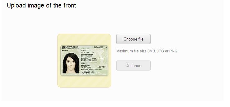ID verification Mendr