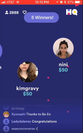 make money playing trivia on HQ