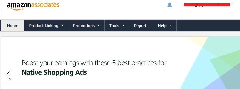 Amazon Associates Dashboard