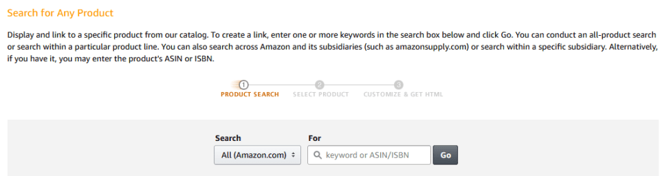 Search Product on Amazon