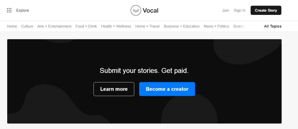 Getting paid on Vocal