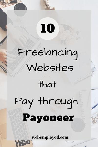 Freelance websites that pay through Payoneer