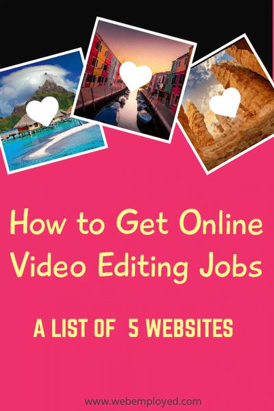 Trabajos de edición de video en línea