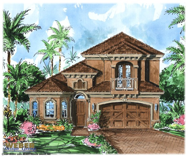 Mediterranean House Plan 2 Story Tuscan Style Home Floor Plan