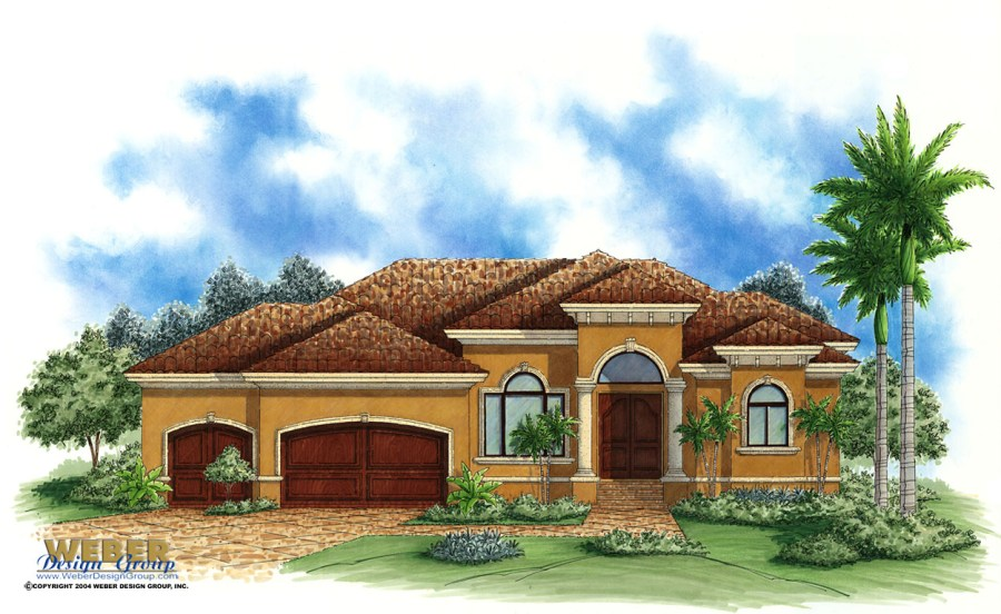 Spanish House Plans  Spanish Mediterranean Style Home Floor Plans