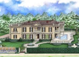 French Colonial House Plans  Colonial Plantation Style Home Plans Ashton House Plan