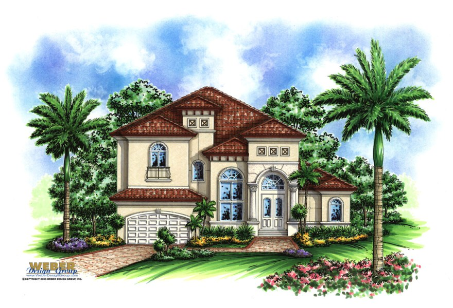 Mediterranean House Plans  Luxury Mediterranean Style Home Floor Plans Aurora V House Plan