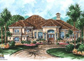 Mediterranean House Plans  Luxury Mediterranean Style Home Floor Plans Mediterranean House Plans