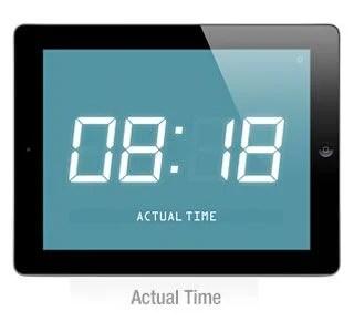 iPhoneアプリ「flexible Clock」