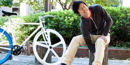 自転車と人