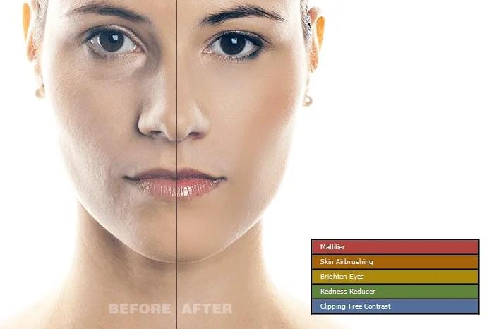 5 Skin Retouching Photoshop Actions