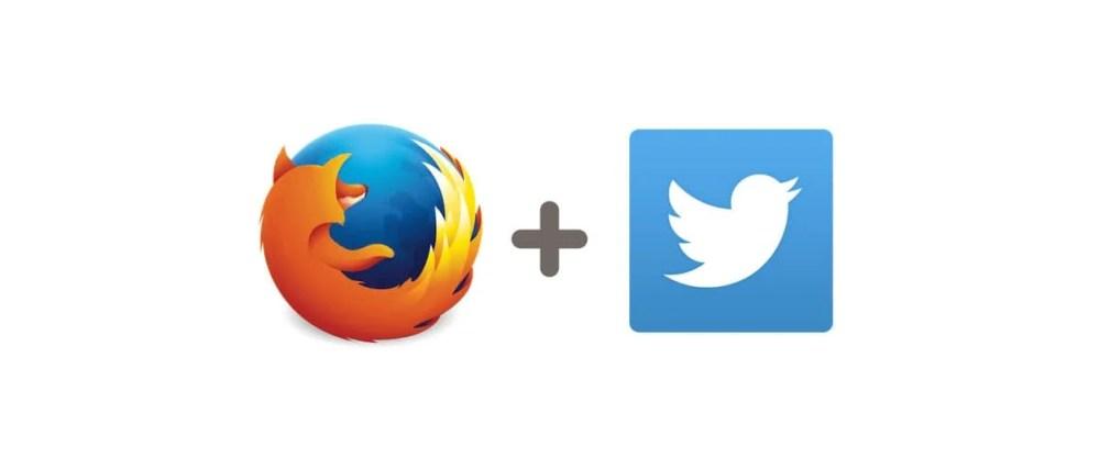 FirefoxとTwitterのロゴ