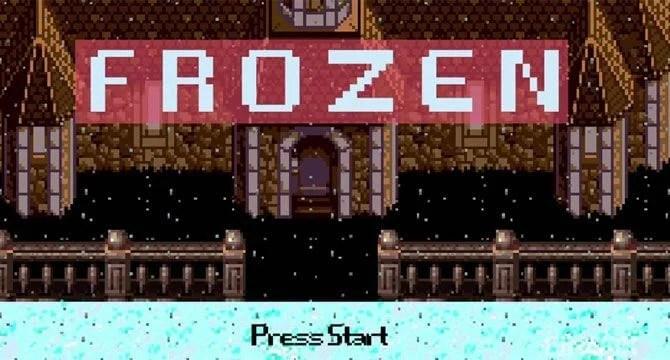 『アナと雪の女王』のファミコン風動画