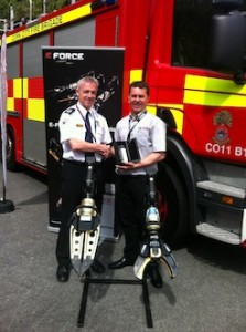 Richard Wood of Weber Rescue UK welcomes aboard Cork City Fire & Rescue Service to the E-force Family