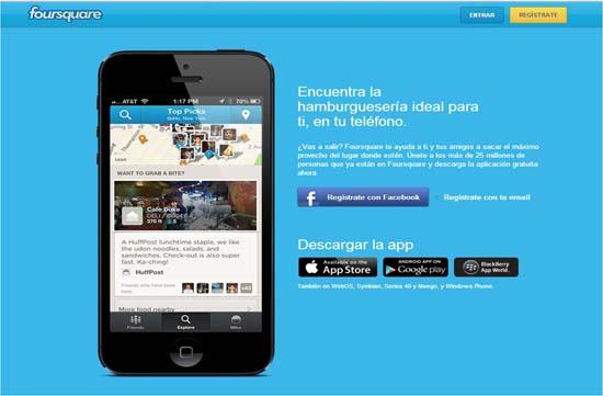 Foursquare mostrará recomendaciones de usuarios de Facebook