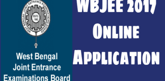 WBJEE 2017 ONLINE APPLICATION