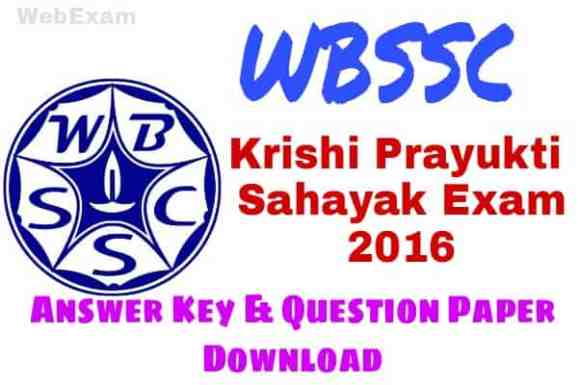 WBSSC KPS 2016 Answer Key