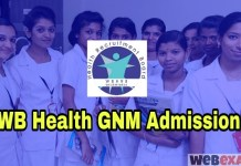 West Bengal Health GNM Nursing Admission