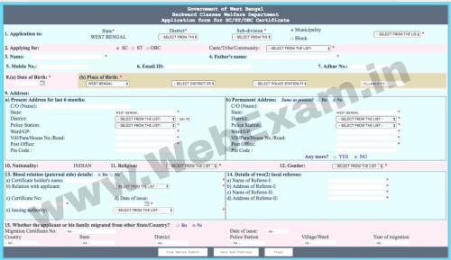WB Caste Certificate Online_1