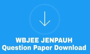 JENPAUH Previous Year Question paper Download
