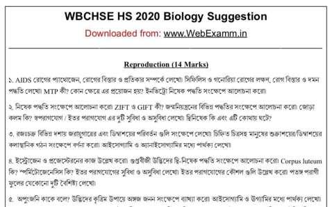 HS 2020 Biology Suggestion Demo Image