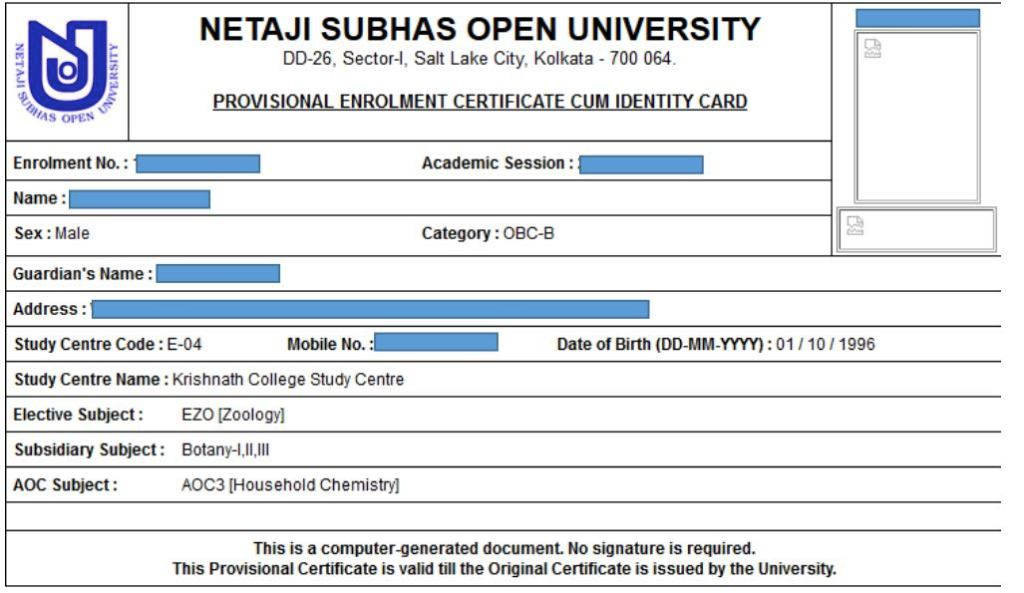 NSOU Study Material Download - Netaji Subhas Open University Books Download 1