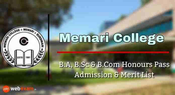 Memari College Admission