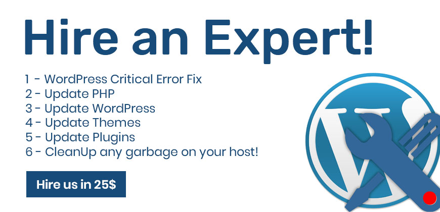 There has been a critical error on your website solved by expert